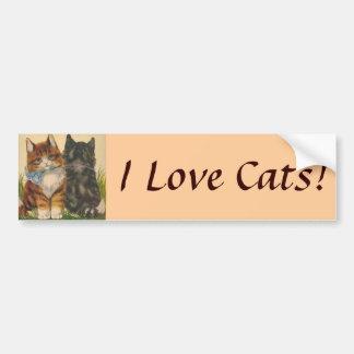 ¡Amo gatos! Pegatina para el parachoques Pegatina Para Auto