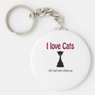 Amo gatos pero… llavero