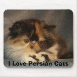 Amo gatos persas alfombrillas de raton