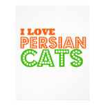 Amo gatos persas plantillas de membrete