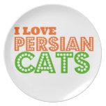 Amo gatos persas plato