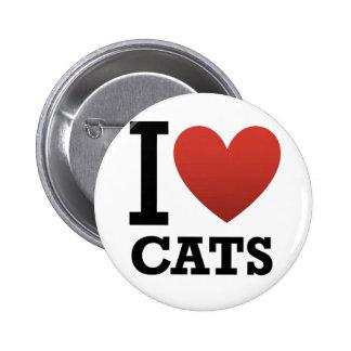 Amo gatos pin