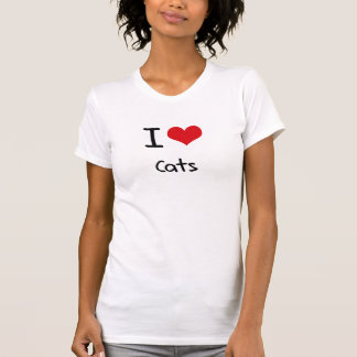 Amo gatos camiseta