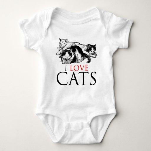 Amo gatos playera