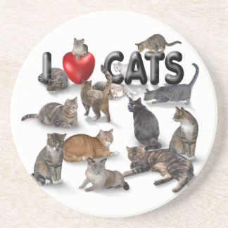 Amo gatos posavasos manualidades