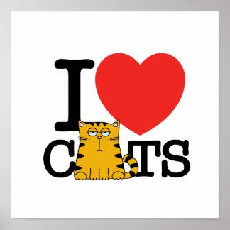 Amo gatos póster
