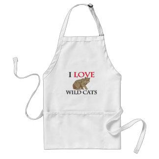 Amo gatos salvajes delantal