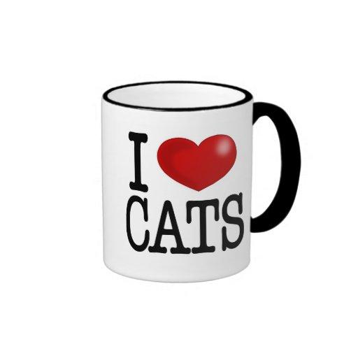 amo gatos taza a dos colores