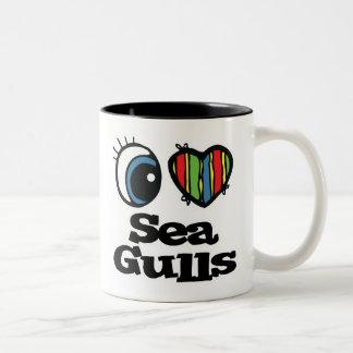 Amo gaviotas (del corazón) taza de café