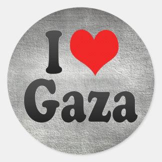 Amo Gaza, territorio palestino Pegatina Redonda