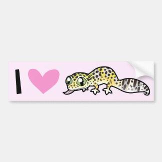 Amo Geckos del leopardo Etiqueta De Parachoque
