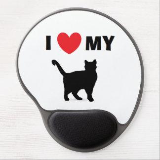 """""""Amo gel Mousepad de mi gato"""" Alfombrilla De Raton Con Gel"""