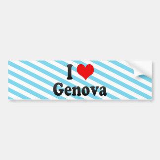 Amo Génova, Italia Etiqueta De Parachoque
