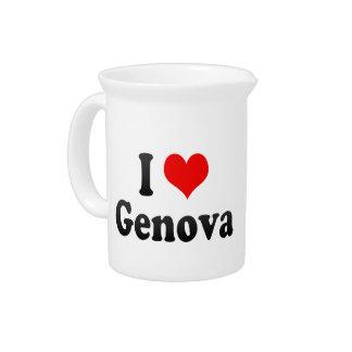 Amo Génova, Italia Jarras Para Bebida