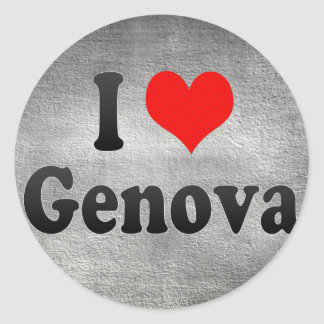 Amo Génova, Italia Pegatina Redonda