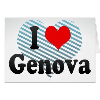 Amo Génova, Italia Tarjeton