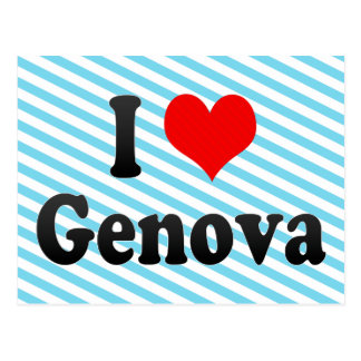 Amo Génova, Italia Postales