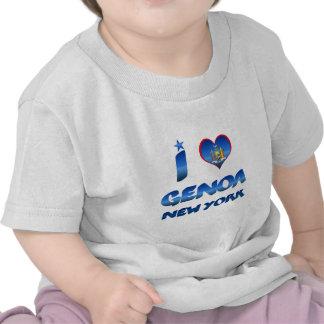 Amo Génova, Nueva York Camiseta