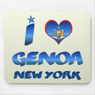 Amo Génova, Nueva York Tapete De Raton
