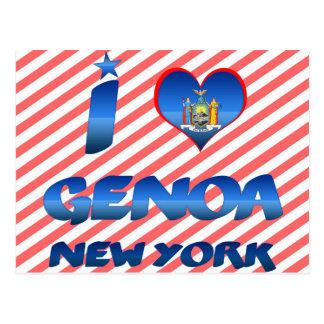 Amo Génova, Nueva York Tarjetas Postales