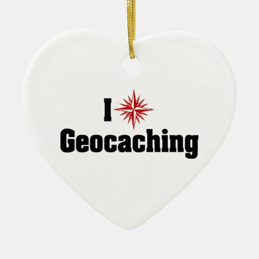 Amo Geocaching Adornos
