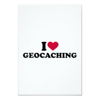 """Amo Geocaching Invitación 3.5"""" X 5"""""""