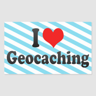 Amo Geocaching Pegatina Rectangular