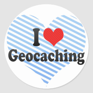 Amo Geocaching Pegatina Redonda