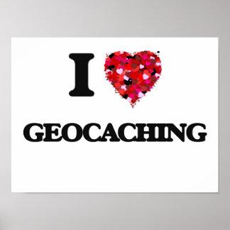 Amo Geocaching Póster