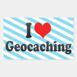 Amo Geocaching Rectangular Pegatina