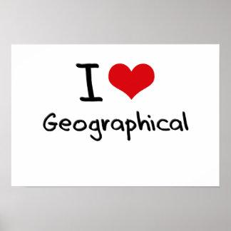 Amo geográfico poster