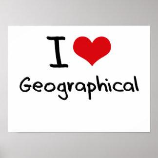 Amo geográfico impresiones