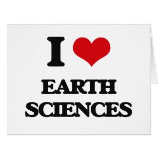 Amo geologías tarjeta de felicitación grande