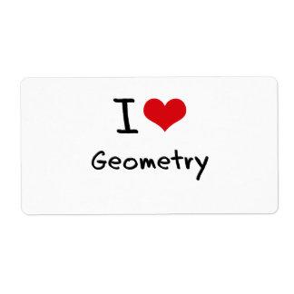 Amo geometría etiquetas de envío