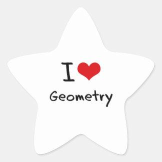 Amo geometría pegatina forma de estrella