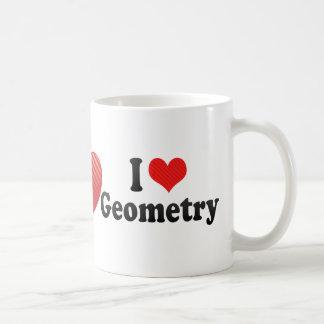 Amo geometría taza