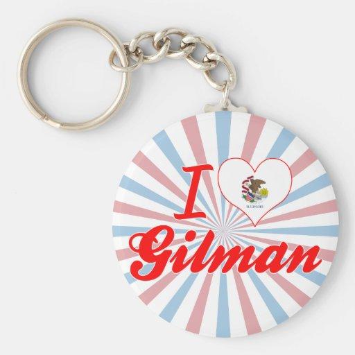Amo Gilman, Illinois Llavero Personalizado