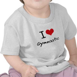 Amo gimnástico camisetas