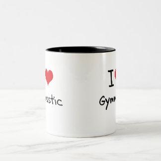 Amo gimnástico taza de café