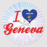 Amo Ginebra, Wisconsin Etiquetas Redondas