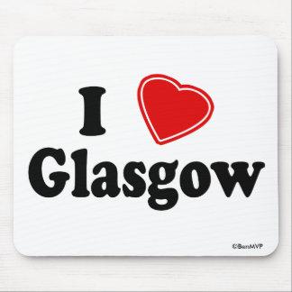 Amo Glasgow Alfombrilla De Ratón