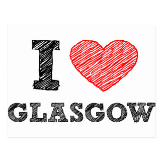 Amo Glasgow Postales