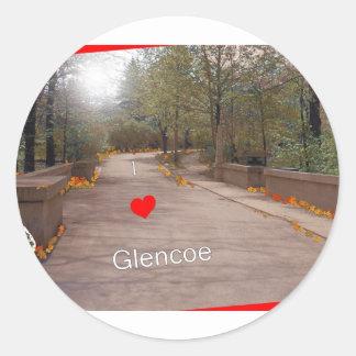 Amo Glencoe Pegatina Redonda