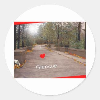 Amo Glencoe Etiquetas Redondas