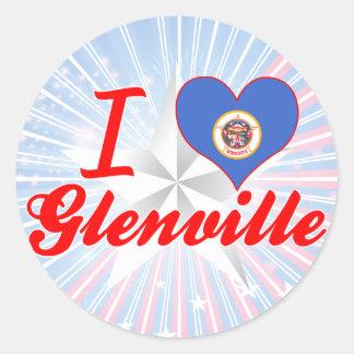 Amo Glenville, Minnesota Pegatinas Redondas