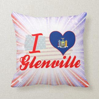 Amo Glenville, Nueva York Cojines