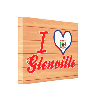 Amo Glenville, Virginia Occidental Lona Envuelta Para Galerias
