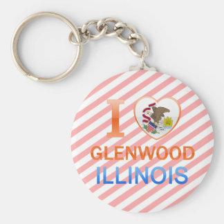 Amo Glenwood, IL Llavero Redondo Tipo Pin