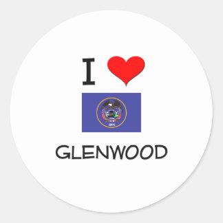 Amo Glenwood Utah Pegatina Redonda