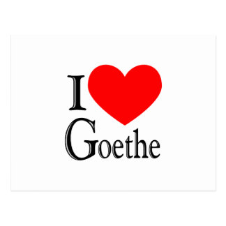 Amo Goethe Tarjeta Postal